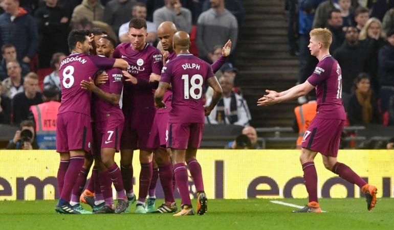 Manchester City Tottenham Premier: El City derrota 1-3 al Tottenham de Dávinson y queda muy cerca del título