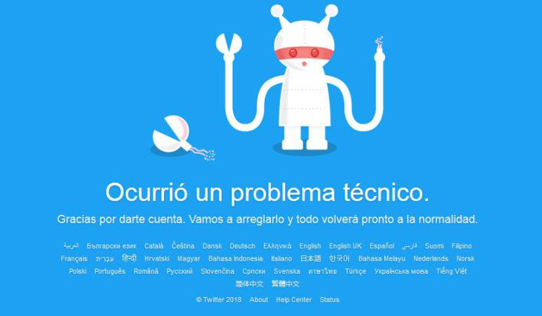 Caída de Twitter