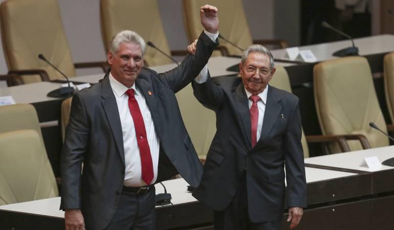 Diaz-Canel - Raúl Castro