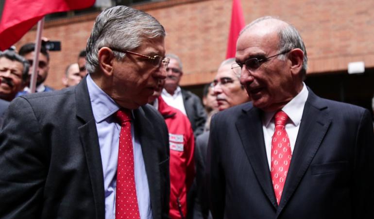 César Gaviria y Humberto de la Calle