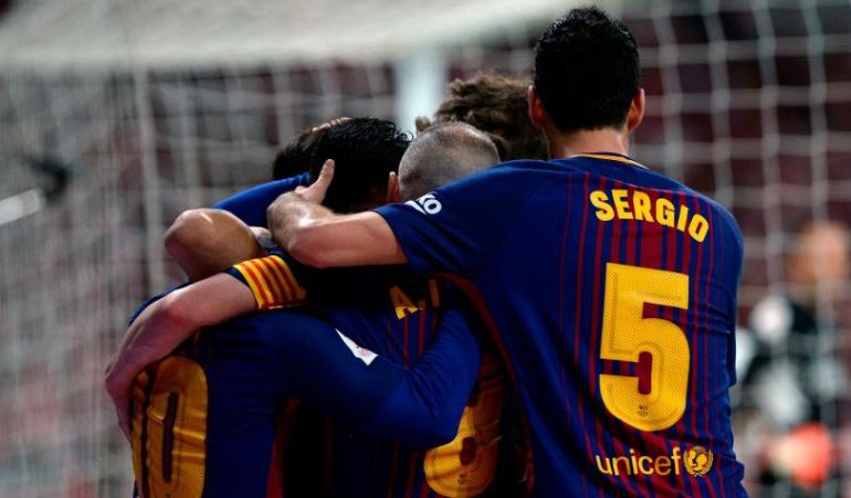 Barcelona Sevilla campeón Copa del Rey: Barcelona conquista su cuarto título consecutivo de la Copa del Rey