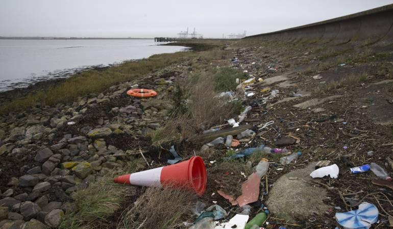 Contaminación de plástico