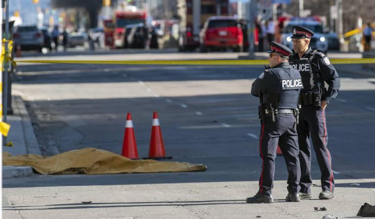 Policía de Toronto dice que arrollamiento fue deliberado