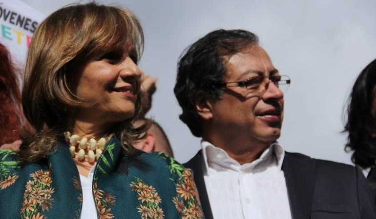 Ángela María Robledo / Gustavo Petro