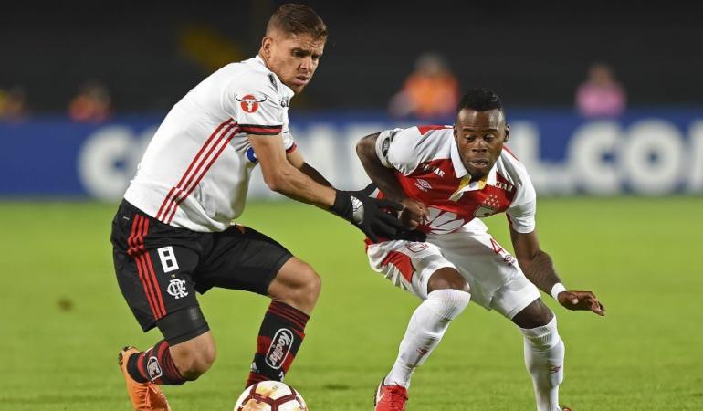 Santa Fe Flamengo Copa Libertadores: Santa Fe no aprovechó la localía ante Flamengo y empató 0-0