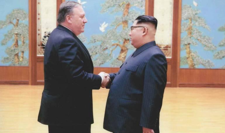 Casa Blanca: La Casa Blanca publicó imágenes del encuentro de Pompeo y Kim Jong Un