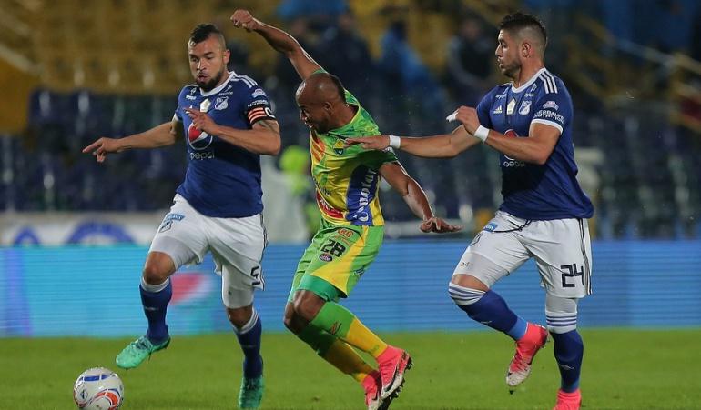 Millonarios Huila Liga Águila: Millonarios venció 1-0 al Huila con gol de Henry Rojas