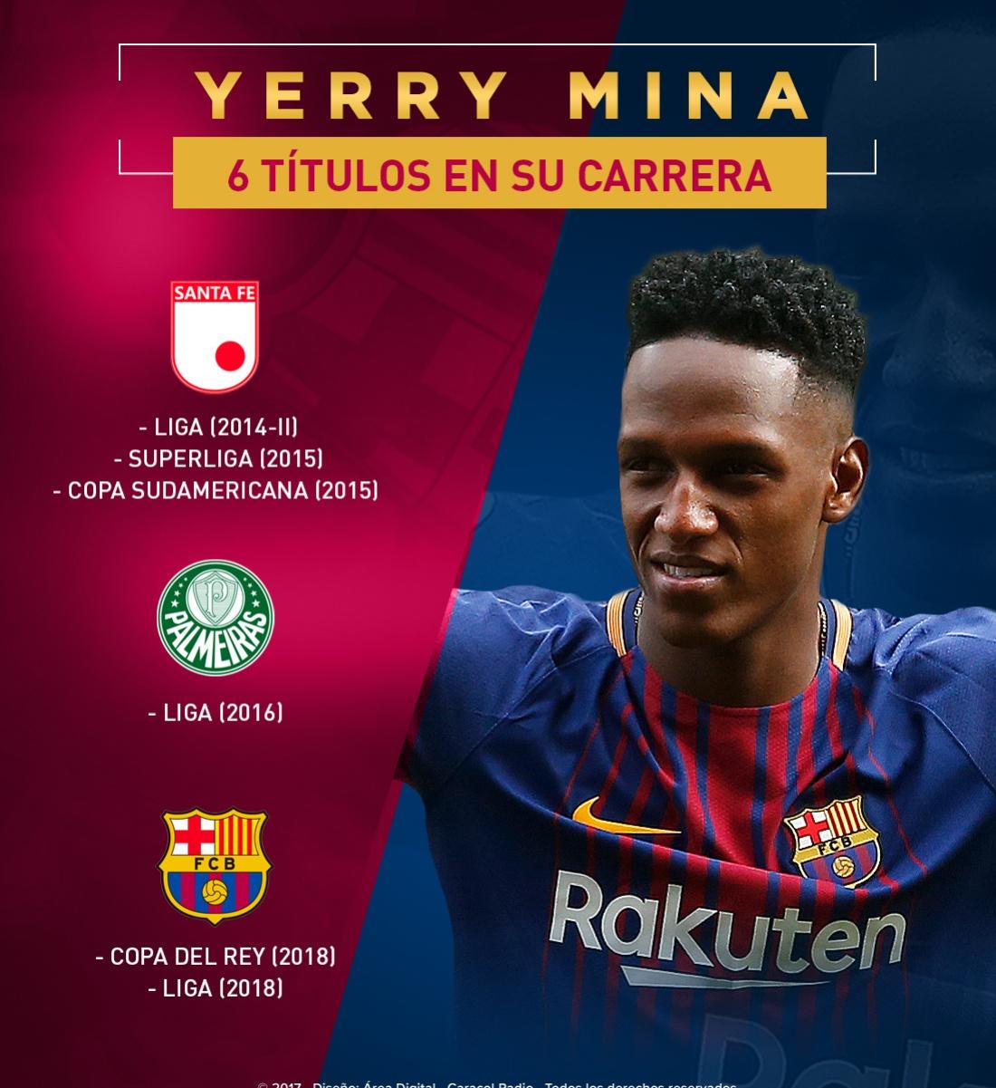 Yerry Mina Barcelona: Yerry Mina se corona campeón con Barcelona y llega a 6 títulos