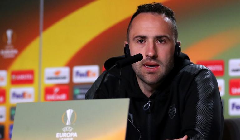 David Ospina Arsenal: Ospina superó molestia en las costillas y será titular en la Europa League