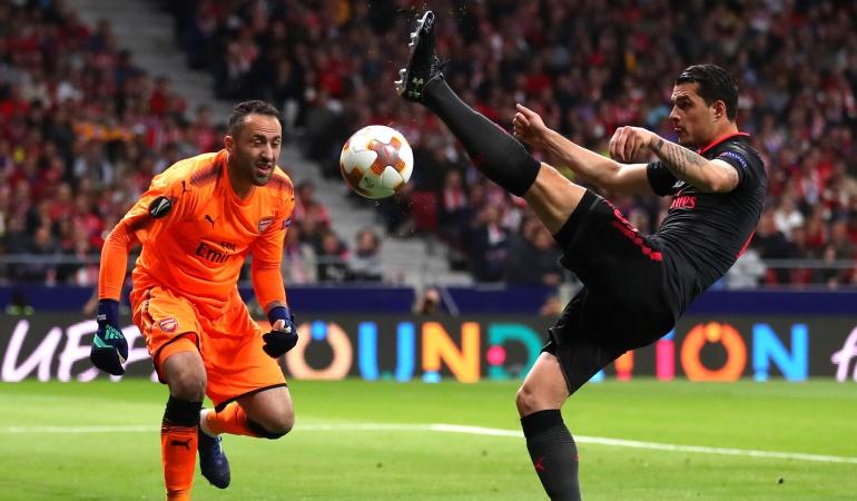 David Ospina Arsenal: El Arsenal con Ospina cae ante el Atlético que jugará la final de la UEL