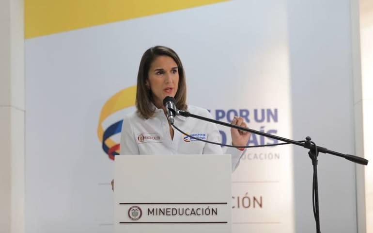 Ministra de Educación, Yaneth Giha