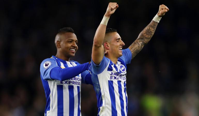 José Izquierdo Brighton Premier League Manchester United: Con asistencia de José Izquierdo, Brighton venció 1-0 al Manchester United
