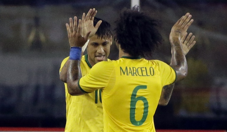Neymar Real Madrid Marcelo: Me encantaría jugar con Neymar en el Real Madrid: Marcelo