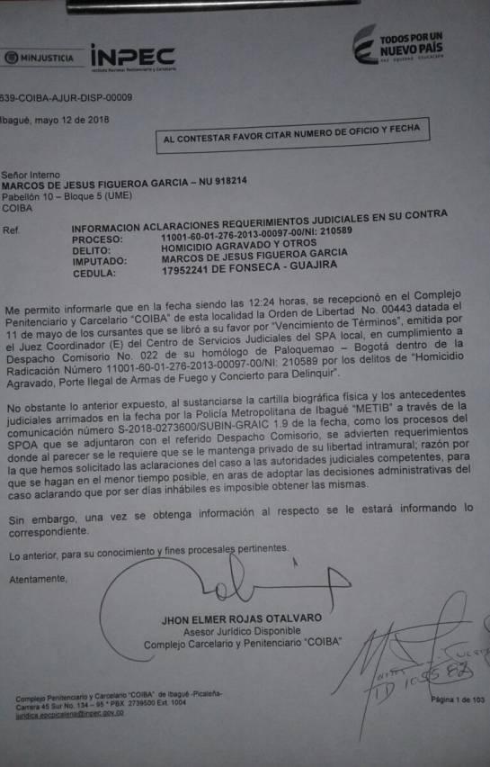 Marquitos: Juez ordena libertad de alias Marquitos