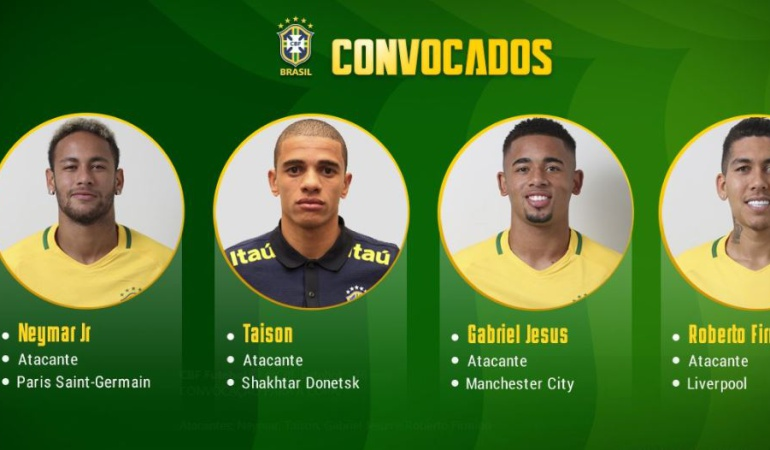 los 23 de brasil rusia 2018: Neymar-Coutinho-Gabriel Jesús lideran lista de Brasil para el Mundial