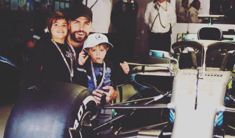 Gerard Piqué, Fórmula 1, Shakira: Milan y Sasha disfrutan de la Fórmula 1 junto a Piqué