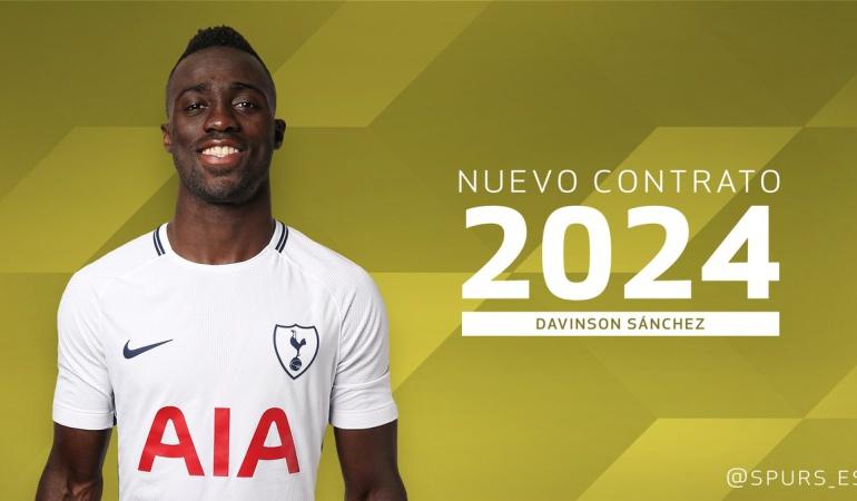 Davinson Sanchez: Davinson Sánchez renovó su contrato con Tottenham hasta el 2024