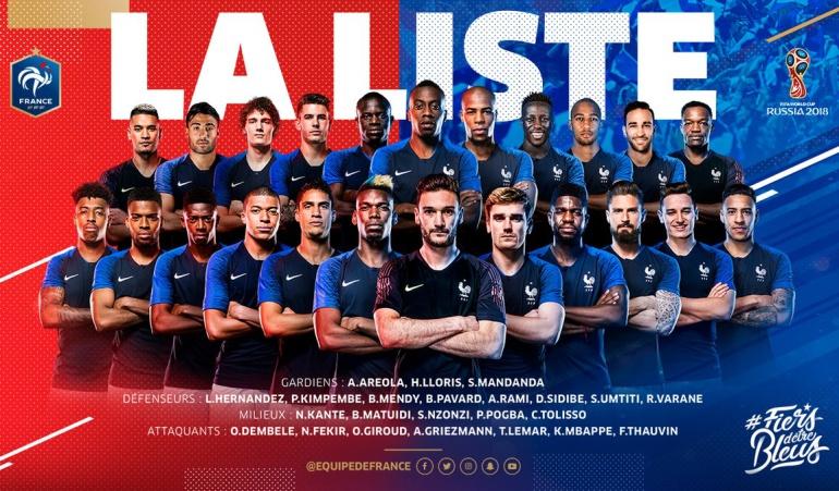 Francia entregó su lista definitiva de convocados para Rusia 2018