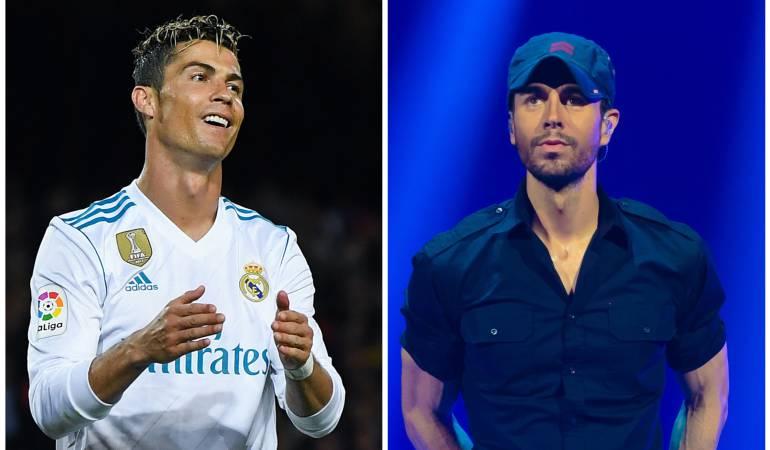 Cristiano Ronaldo y Enrique Iglesias