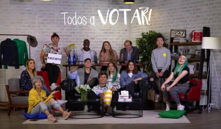 Elecciones preside: Youtubers colombianos invitan a derrotar la abstención en elecciones