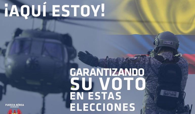 Invitación de las autoridades a acudir a las votaciones: La campaña de la Fuerza Pública para invitar a votar