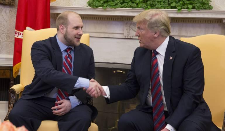 Donald Trump dio la bienvenida a Joshua Holt en la Casa Blanca