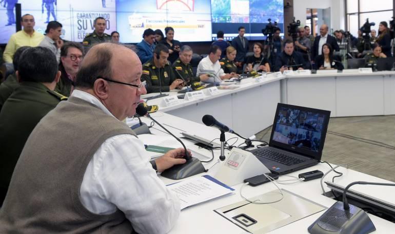 Elecciones Presidenciales de Colombia 2018: Mindefensa: estas son las elecciones más tranquilas de los últimos 20 años