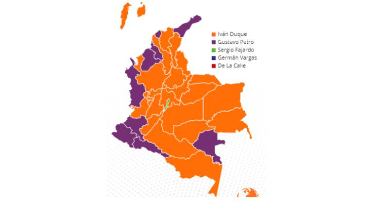 Elecciones Presidenciales de Colombia 2018: Así votaron los colombianos en las regiones