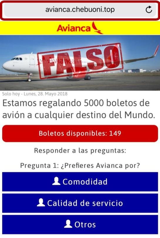 Boletos Avianca: Avianca desmiente que esté regalando boletos de avión a cualquier destino