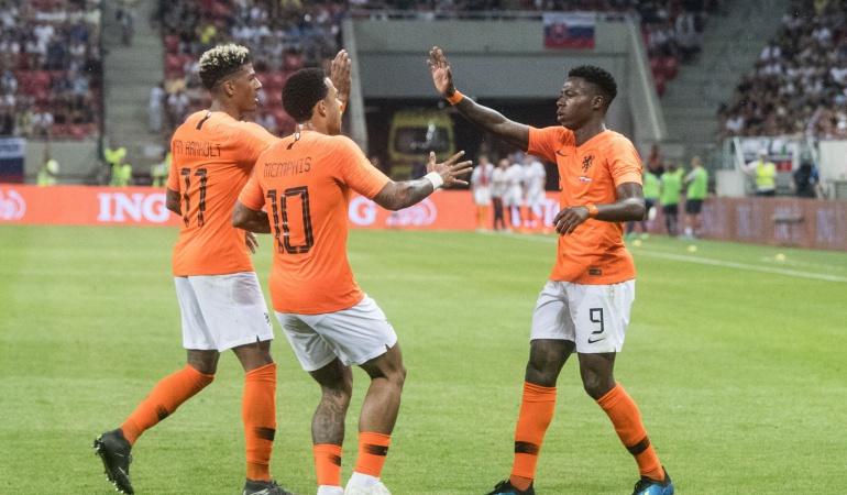 mundial rusia 2018: Quincy Promes evita la derrota de Holanda ante Eslovaquia