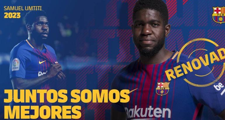 Umtiti: Umtiti renovó con el Barcelona hasta el 2023