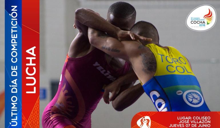 Juegos Suramericanos Lucha Libre: Colombia logró una medalla de oro en lucha libre masculina