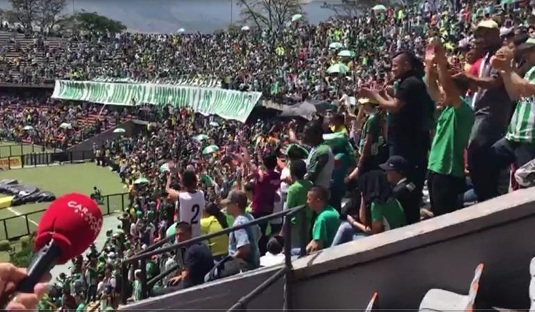 Atlético Nacional Final Liga Águila: Bajo el apoyo de sus aficionados Nacional entrenó previo a la gran final