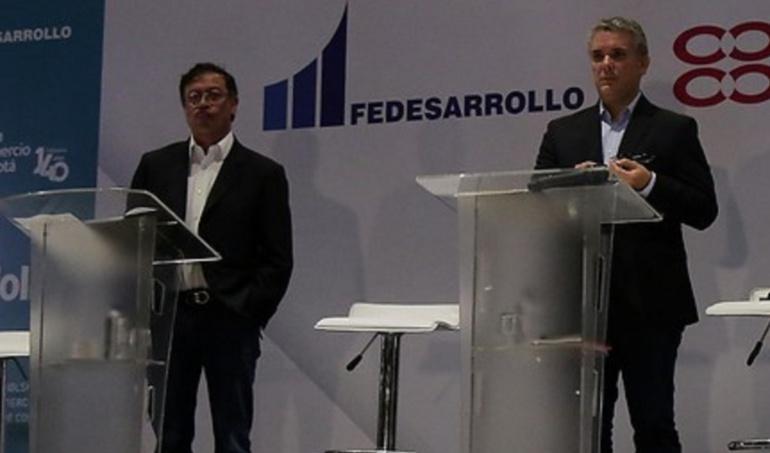 Gustavo Petro, Iván Duque