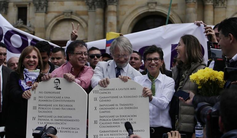 Apoyo a Gustavo Petro: Claudia López y Antanas Mockus adhieren a la campaña presidencial de Petro