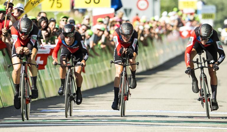 Vuelta a Suiza Nairo Quinana Fernando Gaviria: El BMC Racing ganó la contrarreloj de equipos en la Vuelta a Suiza