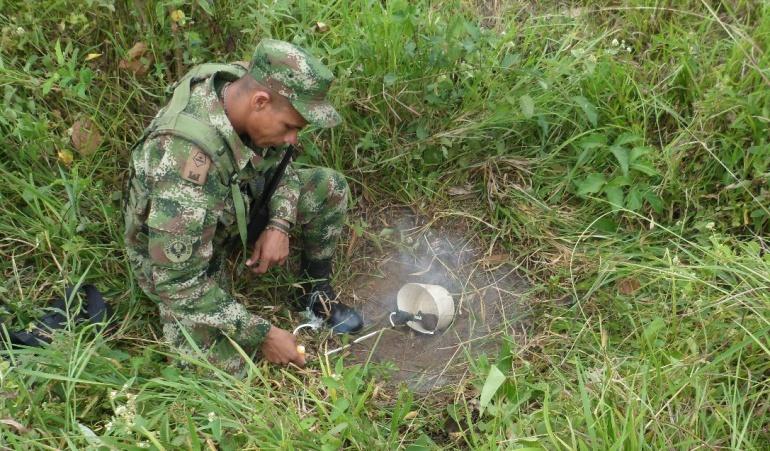 Disidencias de las Farc: Encuentran caleta con 100 minas de las disidencias de las Farc en Guaviare
