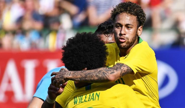 Brasil goleó 3-0 a Austria en el último amistoso antes de Rusia 2018