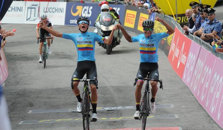 Colombia 1-2 segunda etapa Giro de Italia Sub 23: Colombia hace el 1-2 en la cuarta etapa del Giro de Italia Sub-23