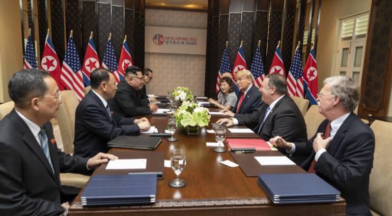 """Kim Jong Un Donald Trump: Solo los más valientes pueden hacer la paz"""": Donald Trump"""