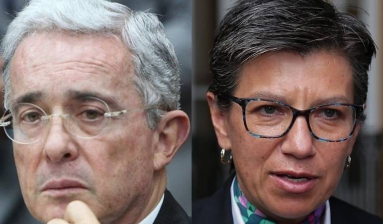 Álvaro Uribe y Claudia López