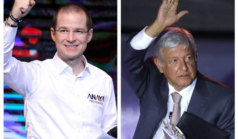 Candidatos presidenciales México 2018, Ricardo Anaya yAndrés Manuel López Obrador