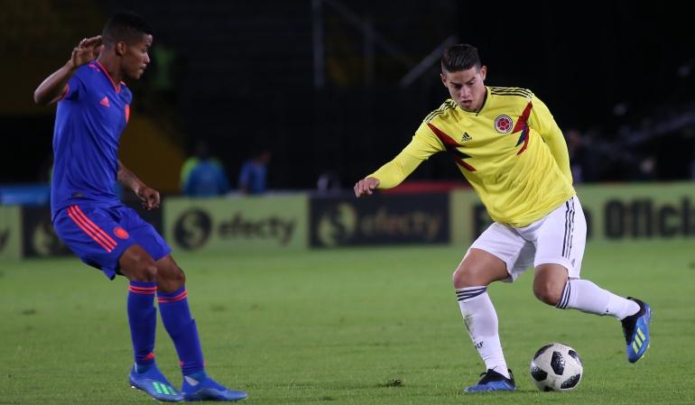 Mundial 2018: James y Barrios volvieron a entrenar con la Selección