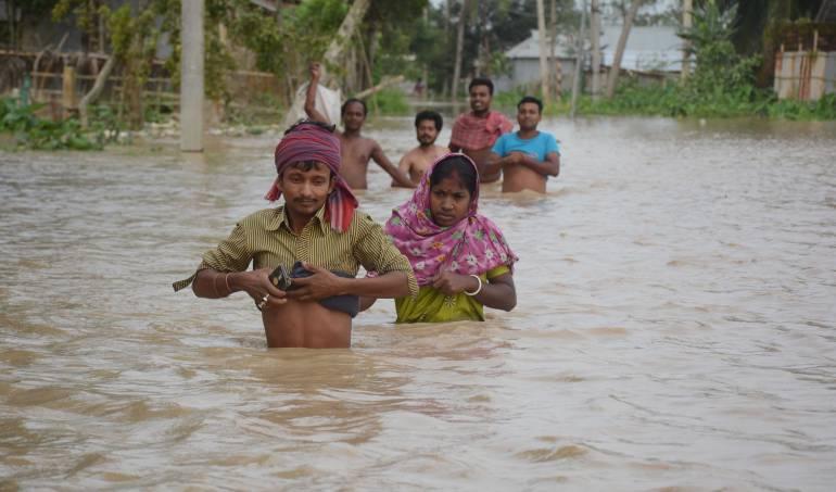lluvias torrenciales: Cerca de 400.000 afectados por las lluvias en el noreste de la India