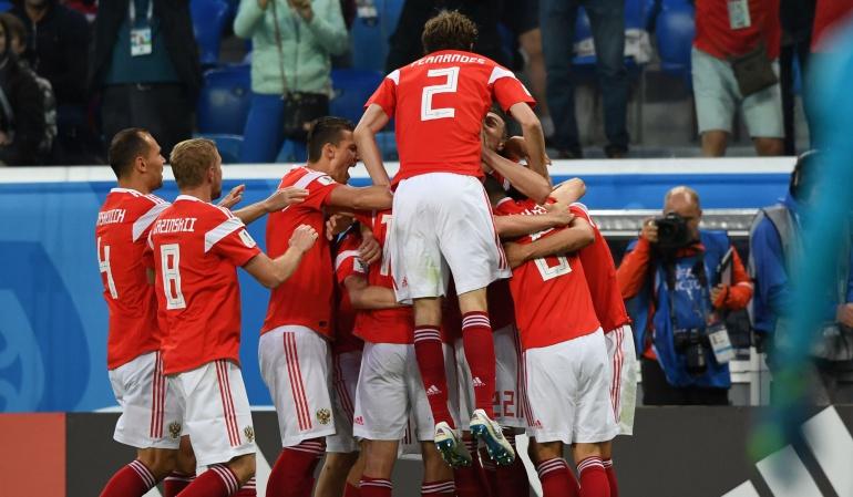 Rusia 3-1 Egipto Mundial de Rusia 2018: Rusia venció 3-1 a Egipto y quedó a un paso de los octavos de final