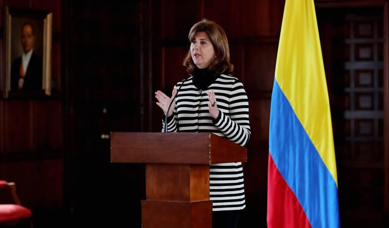 La canciller de Colombia, María Ángela Holguín