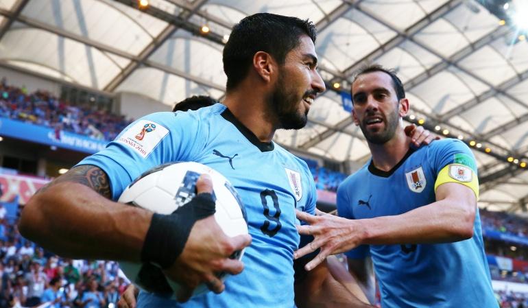 Mundial 2018: Uruguay sella su clasificación a octavos tras vencer a Arabia