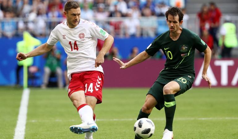 Dinamarca 1-1 Australia Mundial Rusia 2018: Dinamarca y Australia empatan y definirán su futuro en la última jornada