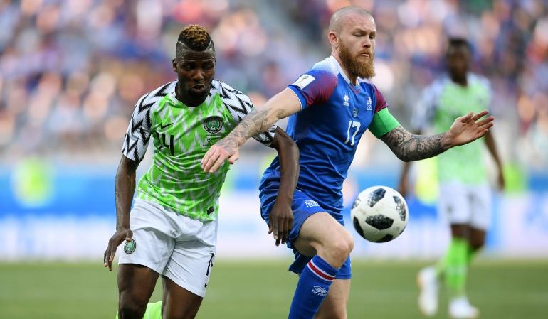 Nigeria 2-0 Islandia online Mundial Rusia 2018: Nigeria venció a Islandia con dos goles de Musa y le dio vida a Argentina