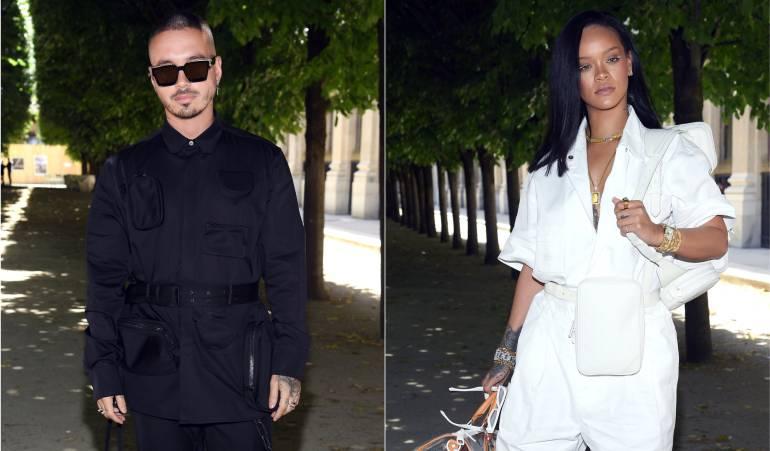El inesperado encuentro entre Rihanna y J Balvin